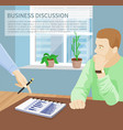 business discussion poster vector image vector image