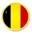 button with flag Belgium vector image vector image