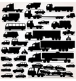 Car Icon Set Side View Silhouettes vector image vector image
