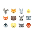 Cartoon Animals Party Mask Set for Costume vector image
