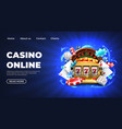casino landing page gambling roulette website big vector image vector image