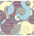 colorful spirals seamless pattern vector image vector image