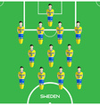 Computer game Sweden Football club player vector image vector image