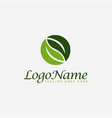 couple leaf nature logo icon template vector image vector image