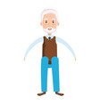 cute grandfather sitting pose avatar character vector image vector image