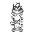 death with hourglass vector image