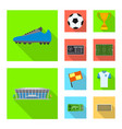 design soccer and gear logo set of vector image vector image