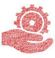 development service fabric textured icon vector image vector image