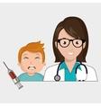 doctor child stethoscope syringe vector image vector image