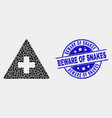 dot medical warning triangle icon and vector image vector image