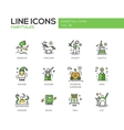 Fairy Tales- flat design line icons set vector image vector image