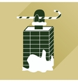 flat icon with long shadow Santa in the chimney vector image vector image