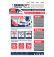 football soccer game landing page design vector image vector image