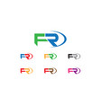 fr letter logo vector image