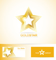 Golden star logo vector image
