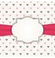 Heart Background with Frame vector image