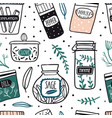 herbs and spices jars seamless pattern vector image vector image