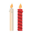 holiday and church candles burning paraffin icons vector image vector image