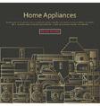 Home appliances concept vector image