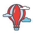 hot air balloon concept line icon vector image