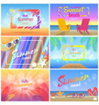 hot summer days 2018 sunset beach party summertime vector image vector image