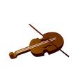 icon violin vector image vector image