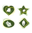 icons emblem with naturals design vector image vector image