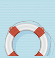 lifebuoy photo-realistic on striped backgrou vector image
