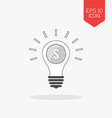 Lightbulb with coin inside profit idea concept vector image