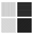 lineal liny patterns vector image
