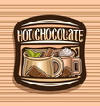 logo for hot chocolate vector image