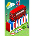 London Double Decker Postcard vector image vector image
