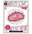 Love series pop art speech bubble vector image vector image
