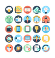 Market and Economics Colored Icons 3 vector image