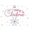 Merry Christmas hand lettering image vector image vector image