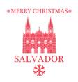 Merry Christmas Salvador vector image vector image