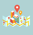 modern city map and geo signs vector image vector image