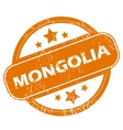 Mongolia grunge icon vector image vector image