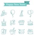 New Year and Christmas element icons vector image vector image