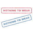 nothing to wear textile stamps vector image vector image