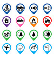 offroad event and camping icons set vector image vector image