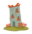 old tower or building for living abandoned house vector image vector image