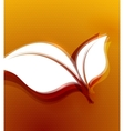 Orange leaves autumn wave design vector image