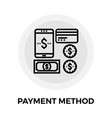Payment Method Line Icon vector image