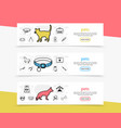 pets horizontal banners vector image vector image
