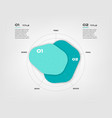 radar diagram elements color infographics some of vector image vector image