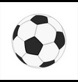 realistic soccer ball vector image vector image