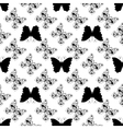 Seamless pattern of graphic butterflies vector image