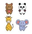 set animals cartoon cute design vector image vector image