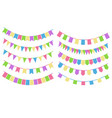 set of cartoon flag garlands oslated on white vector image vector image